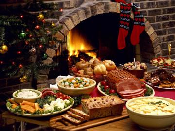 франция стол рождество