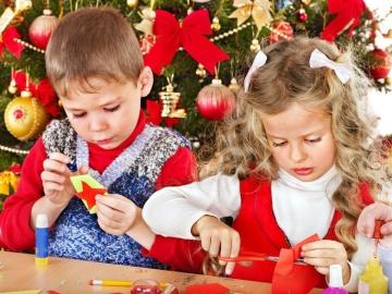 новогодние снежинки с детьми