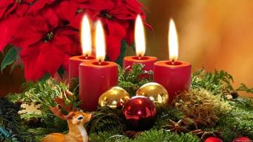 свечи на новогодней елке